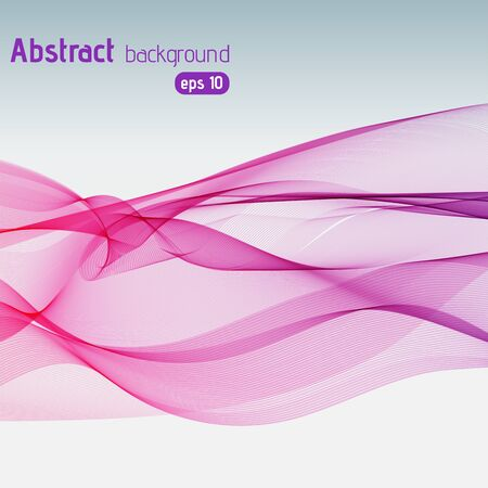smooth background: Colorful smooth pink, purple lines background. Vector illustration