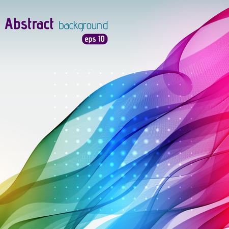 arc en ciel: Colorful lignes lumineuses lisses fond. Multicolores. Vector illustration