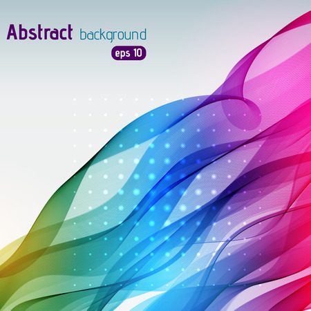 color effect: Colorful smooth light lines background. Rainbow-colored. Vector illustration