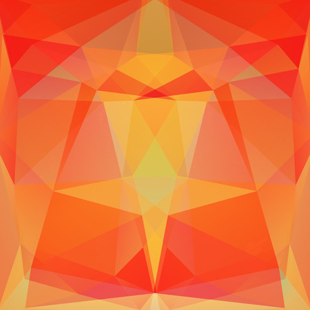 specular: abstract background consisting of yellow, orange triangles, vector illustration