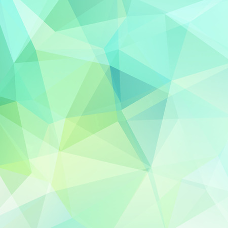 abstract background consisting of green triangles, vector illustration.