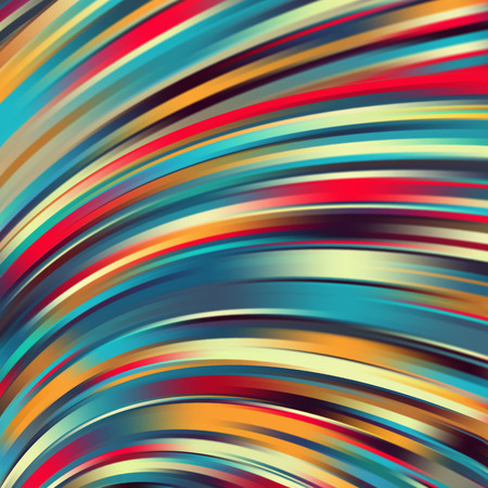 Colorful smooth light lines background. Rainbow-colored. Vector illustration