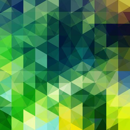abstract background consisting of green, yellow triangles Illustration