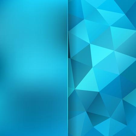 파란색 삼각형으로 이루어진 추상적 인 배경, 벡터 일러스트 레이 션