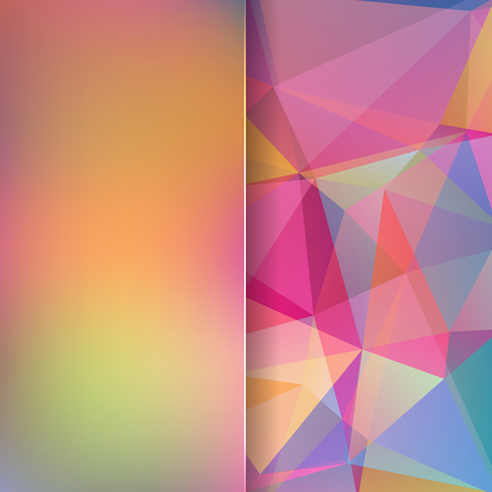matt: abstract background consisting of rainbow triangles and matt glass, vector illustration Illustration