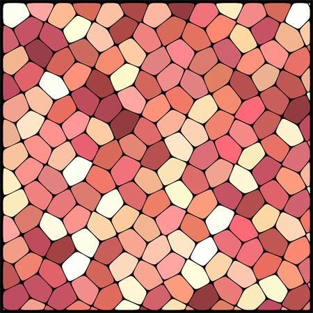 geometrical shapes: abstract background consisting of white, brown geometrical shapes, vector illustration