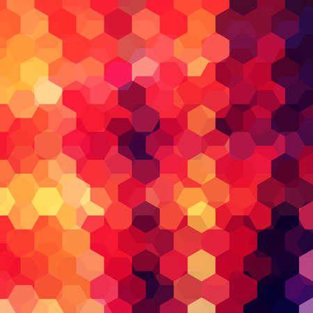 imposition: abstract background with red, orange, brown hexagons, vector illustration Illustration