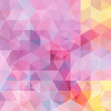 grid background: abstract background consisting of pink, yellow triangles, vector illustration