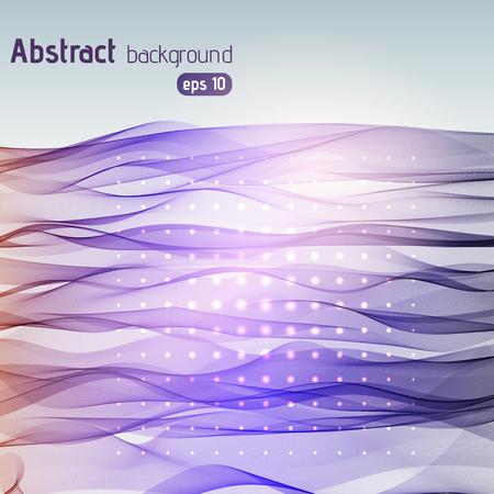 smooth background: Colorful smooth light lines background. Purple, violet colors. Vector illustration Illustration