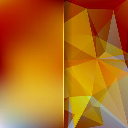 matt: abstract background consisting of yellow, orange, brown triangles and matt glass, vector illustration