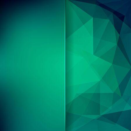 matt: abstract background consisting of green triangles and matt glass, vector illustration