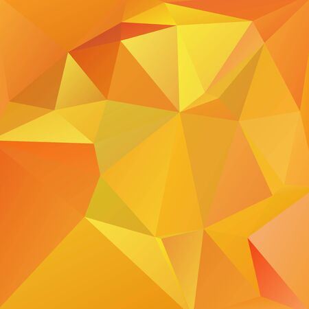 yellow orange: abstract background consisting of yellow, orange triangles, vector illustration