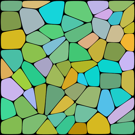 green yellow: abstract background consisting of green, yellow geometrical shapes, vector illustration Illustration