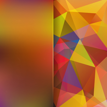 jaune rouge: abstract background consisting of brown, red, yellow triangles and matt glass, vector illustration