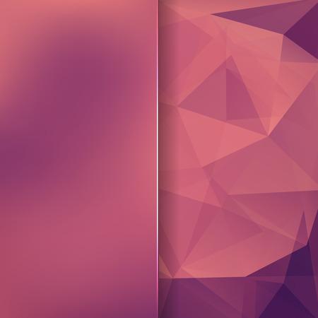 matt: abstract background consisting of pink, orange, purple triangles and matt glass, vector illustration