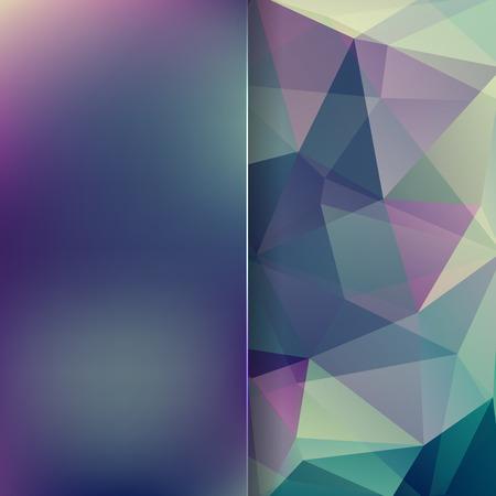 matt: abstract background consisting of blue, green triangles and matt glass, vector illustration