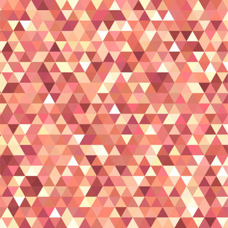 pink brown: abstract background consisting of small orange, white triangles, vector illustration