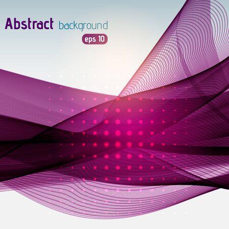 smooth background: Smooth dark purple lines background. Vector illustration Illustration