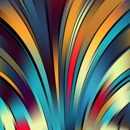 black and blue: Colorful smooth light lines background. Black, blue, yellow, orange, red colors. Vector illustration Illustration