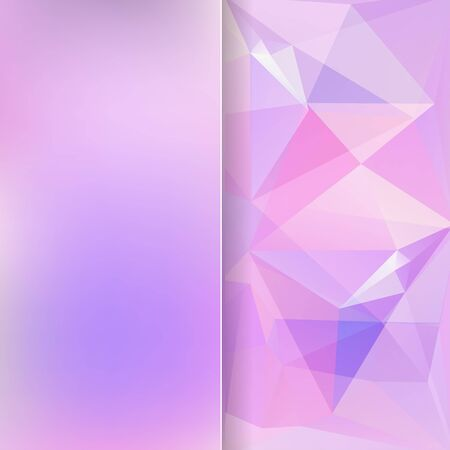 matt: abstract background consisting of pink triangles and matt glass, vector illustration