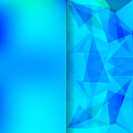 matt: abstract background consisting of blue triangles and matt glass, vector illustration Illustration