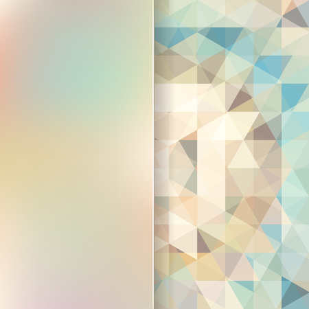 matt: abstract background consisting of white, beige, blue triangles and matt glass, vector illustration