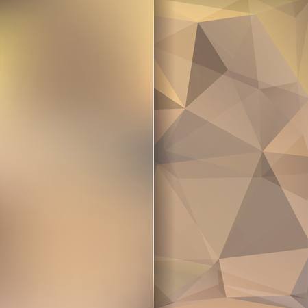 light brown background: abstract background consisting of beige, brown triangles and matt glass, vector illustration