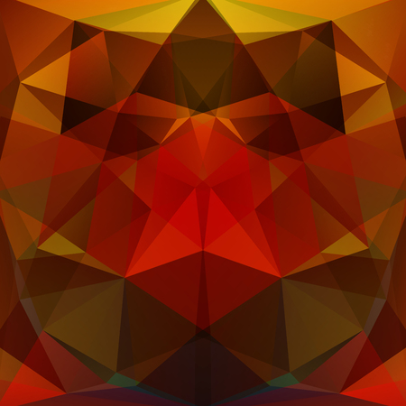 abstract background consisting of red, brown triangles, vector illustration