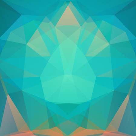 abstract background consisting of green, blue, beige triangles, vector illustration