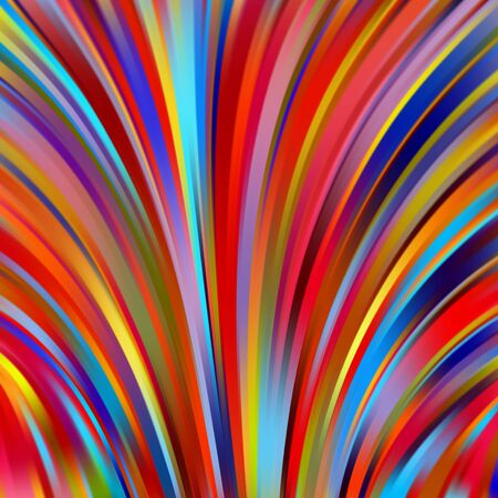 rouge et bleu: Colorful smooth light lines background. Red, blue, yellow colors. Vector illustration