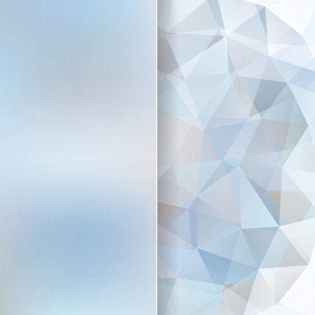 abstract background consisting of light blue triangles and matt glass, vector illustration Vettoriali