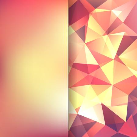 matt: abstract background consisting of yellow, orange triangles and matt glass, vector illustration