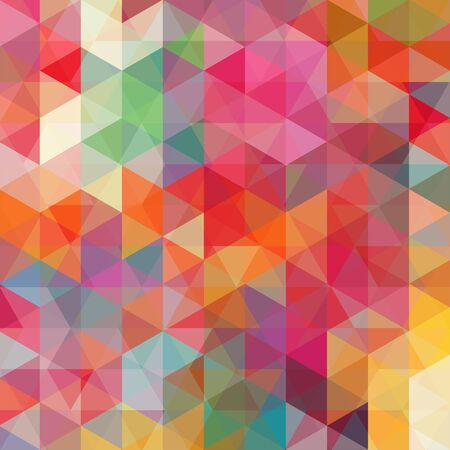 abstract background consisting of colorful triangles, vector illustration