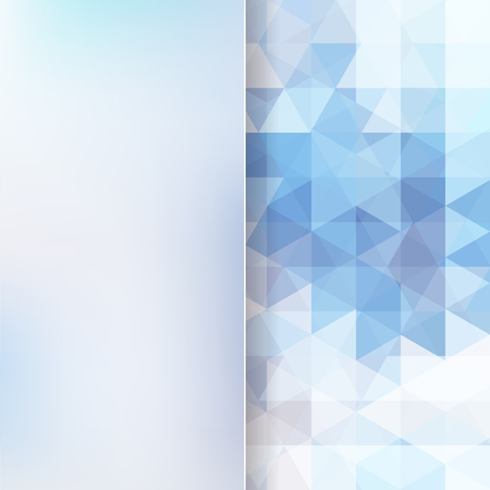 abstract background consisting of blue, white triangles and matt glass, vector illustration