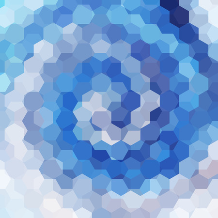 blau wei�: abstract background consisting of blue, white, gray hexagons, vector illustration Illustration