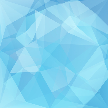 mosaic background: abstract background consisting of blue triangles, vector illustration Illustration