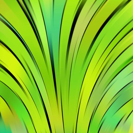 green and black: Colorful smooth light lines background. Green, black colors. Vector illustration