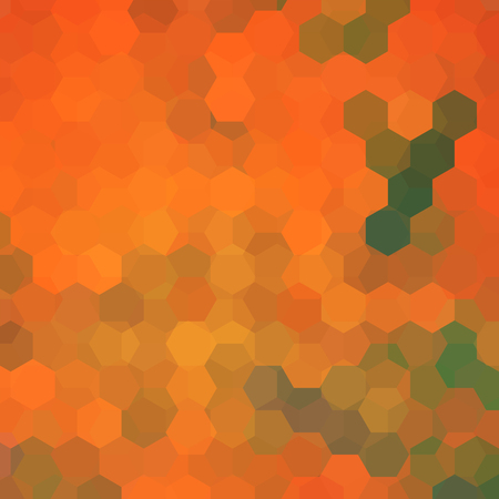 imposition: abstract background consisting of orange hexagons, vector illustration