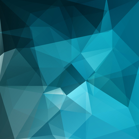 facet: Abstract blue geometric polygon facet background mosaic made by edgy triangles, vector illustration Illustration