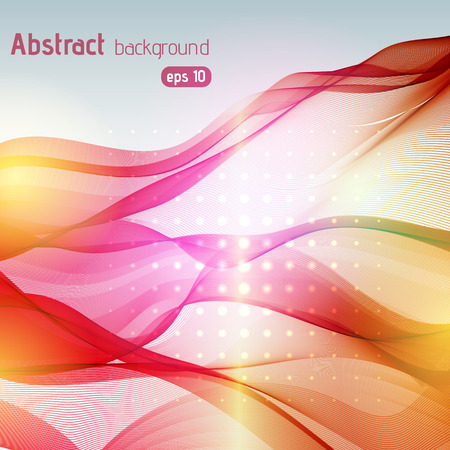 soft background: Abstract pink, orange, yellow wavy soft background
