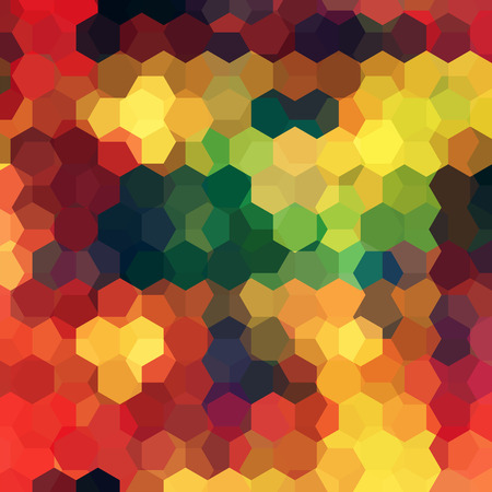 jaune rouge: abstract background consisting of red, yellow, green, orange hexagons, vector illustration Illustration