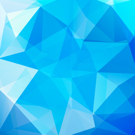 empty space: abstract background consisting of blue, white triangles, vector illustration