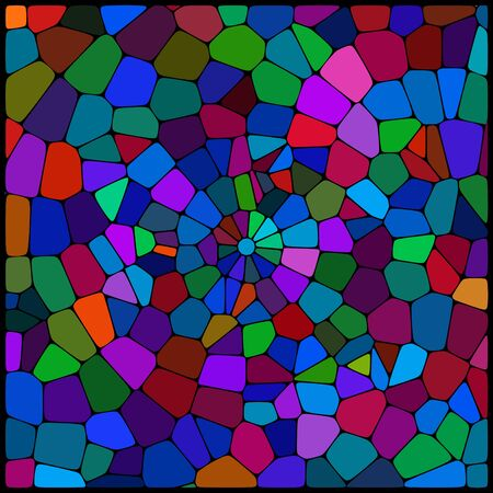 cobble: abstract background consisting of green, blue, pink, purple geometrical shapes, vector illustration