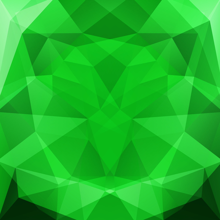 specular: abstract background consisting of green triangles, vector illustration