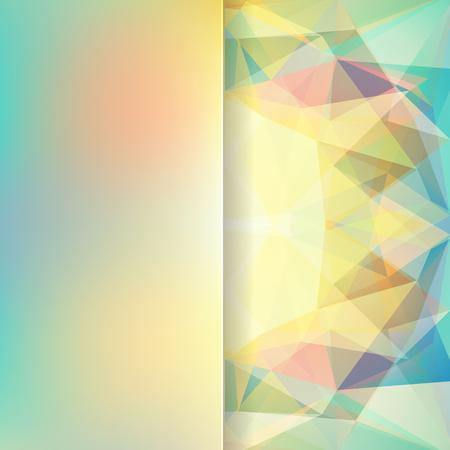 matt: abstract background consisting of yellow, green triangles and matt glass, vector illustration Illustration