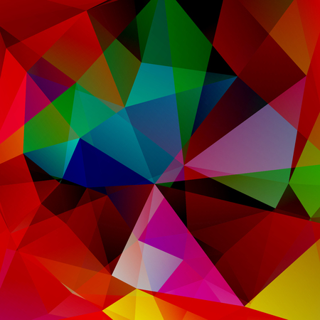 rosso verde: abstract background consisting of red, green, brown triangles, vector illustration