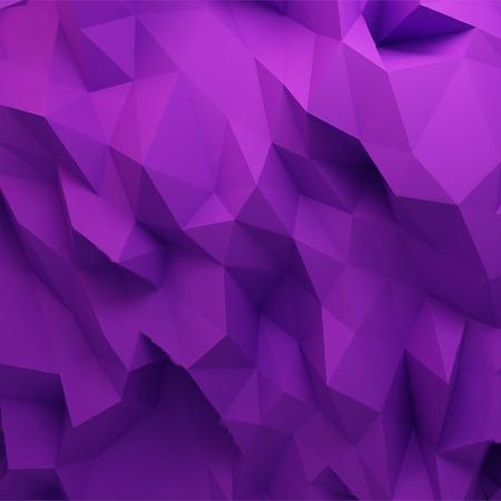 3d 추상적 인 기하학적 배경, 보라색 다각형 모양