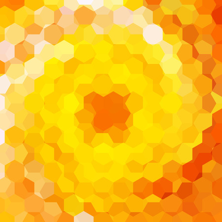consisting: abstract background consisting of yellow, orange hexagons, vector illustration