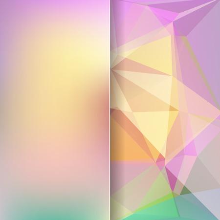 matt: abstract background consisting of pastel triangles and matt glass, vector illustration