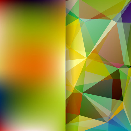 matt: abstract background consisting of yellow, green, blue, orange triangles and matt glass, vector illustration